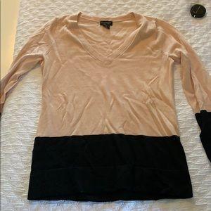 Club Monaco pink color block sweater